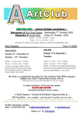 School Holiday Art Workshops
