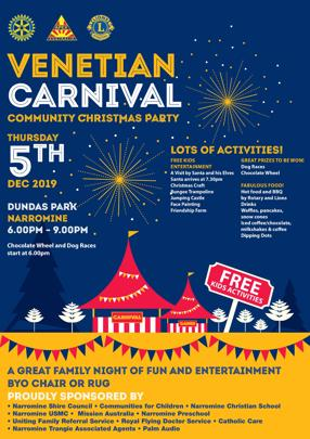 Venetian Carnival Community Christmas Party